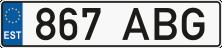 Естонський автономер купити онлайн